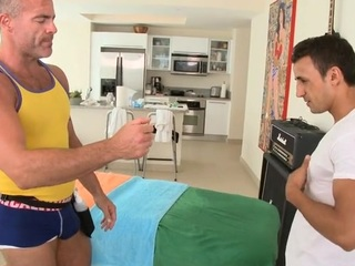 Sweet twink gets his horny anal canal thrashed wide of hunk