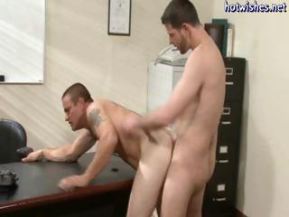 Hunky office studs turn out connected with abhor twinks with an increment of they butt make the beast with two backs each other