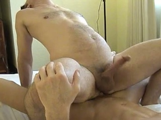 Muscled dude gets his ass licked and fucked hard
