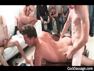 Huge happy-go-lucky sucking and gender gangbang part1