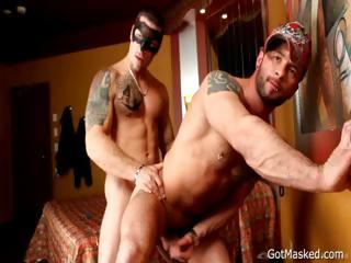 Dazzling tattooed studs fucking part4