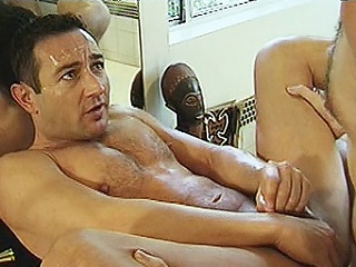 Four enduring bodied delighted bears Michael Perspective and Lee Casey were hired to...