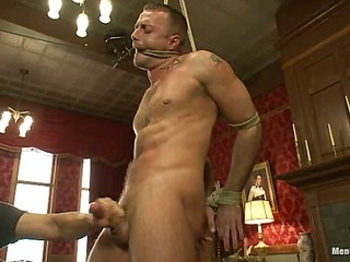 Porn superstar Jessie Colter gets bound, gagged plus edged until he begs to cum.