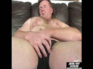 Mature guy loves to posture with his cock