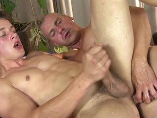 Hot young twink rub down and bareback