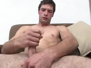 Sexy young person masturbates and cums