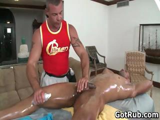 Sexy gay blade get his amazing piecing together massaged