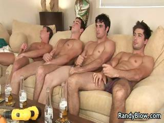 Shove around hot studs in detached foursome