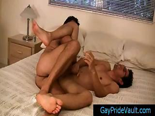 Twink gets anus rimmed with the addition of fingered part3