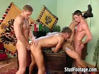 Hot and sexy military blithe orgy