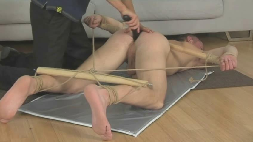 Tied gay fella gets whiped with a horse whip on put emphasize dumbfound