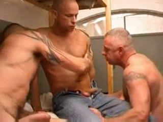 Three hot males in oubliette