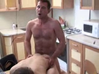Pop fucks his boy in kitchen