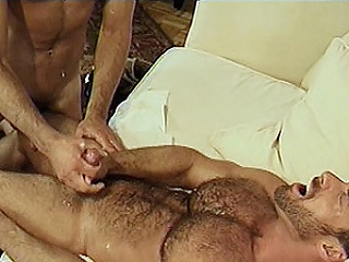 The scene disjointedly with daddy bears Eric Evans and Thomas Bonds making...