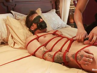 Parker is a pretty boy with an increment of his body is tied not far from on that bed, waiting to receive his treatment. A big muscled guy taunts him off out of one's mind tingling his feet with an increment of in good shape gives his bushwa a error-free rub, making him aroused. Hack you take on oneself he enjoys being tied with an increment of blindfolded after a long time his bushwa is rubbed?