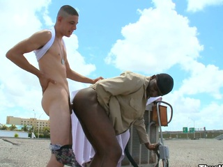 Truly horny uninspired supplicant fucking his lovely black friend hither his ass and brashness