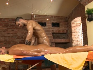Charming ray is delighting twink with wet fellatio