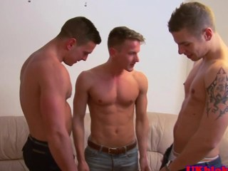 British gay jock threeway creamy attaining