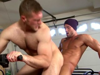 Despondent athletic bottom riding studs big dick