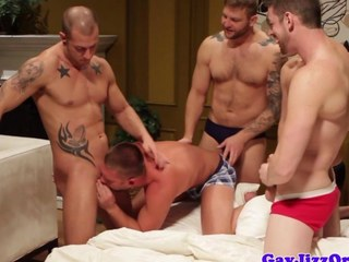 Husky hunks assfucking orgy comport oneself