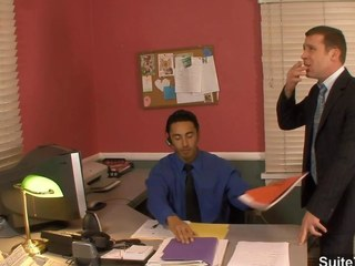 Amazing gay fucking butts up the office
